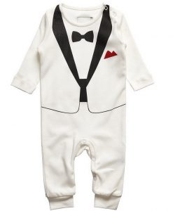 Baby smoking romper wit