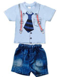 Babypakje shirt stropdas met broek