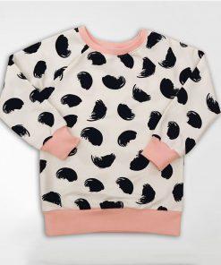 Sweatshirt met zwarte veren
