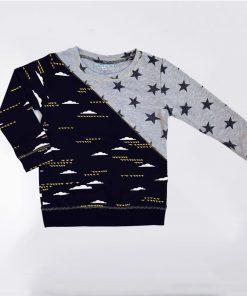 Sweatshirt met sterren en wolken