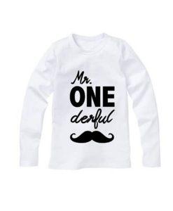 Gepersonaliseerde eerste verjaardag shirt baby