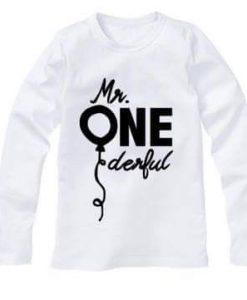 1st verjaardag shirt baby met eigen naam