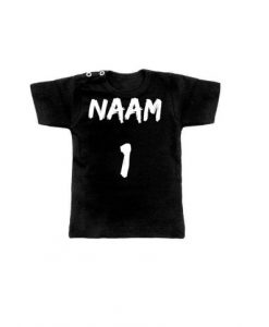 verjaardag shirt baby met eigen naam