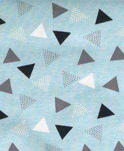 Broekje driehoekjes blauw