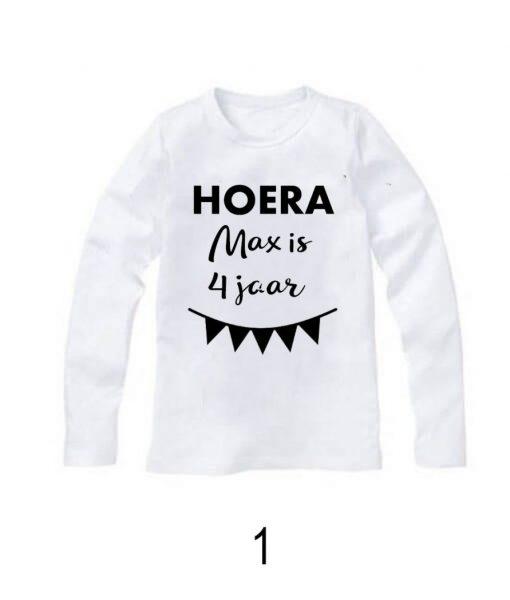 Verjaardag shirt met naam