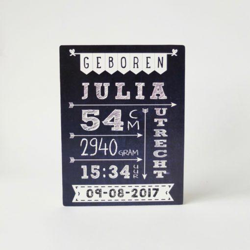 Geboortebord schoolbord