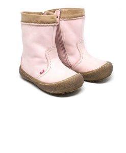 leren roze laarzen