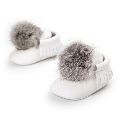 Babyschoenen met pompons