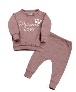 Joggingpak princess met naam