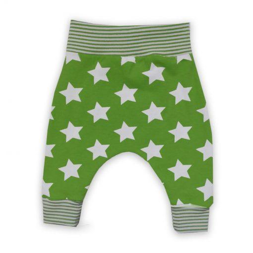 baggybroek groen met sterren
