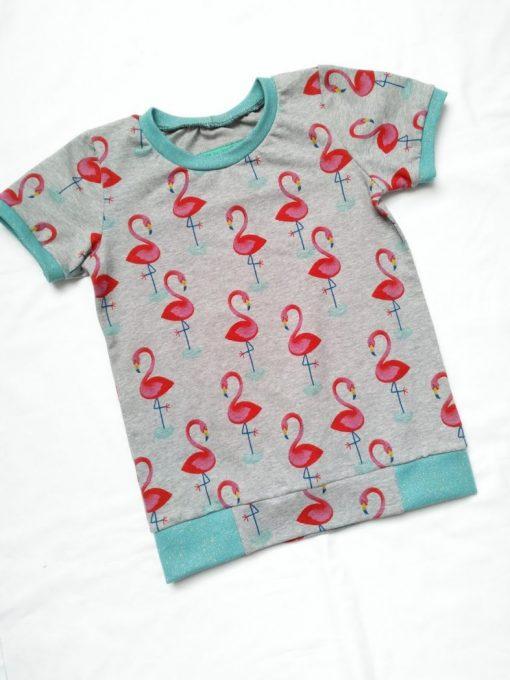 Shirt met flamingo's