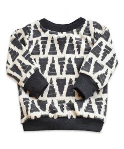 Sweater met triangles print