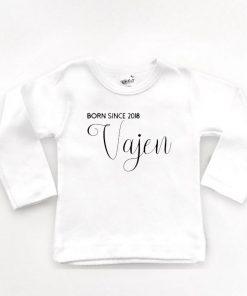 Shirt met naam en geboorte jaar