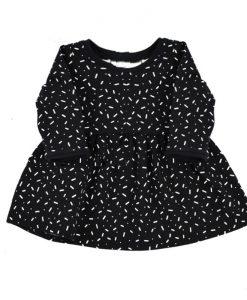 Zwarte jurk met witte sprinkels