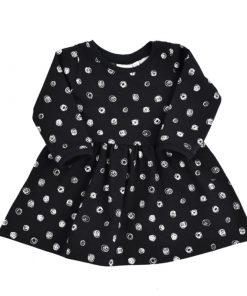 Zwarte jurk met witte stippen