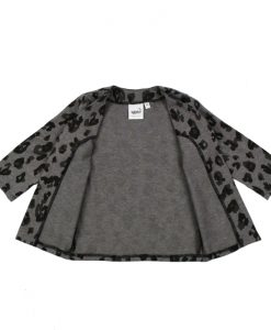 lang vest met leopardprint