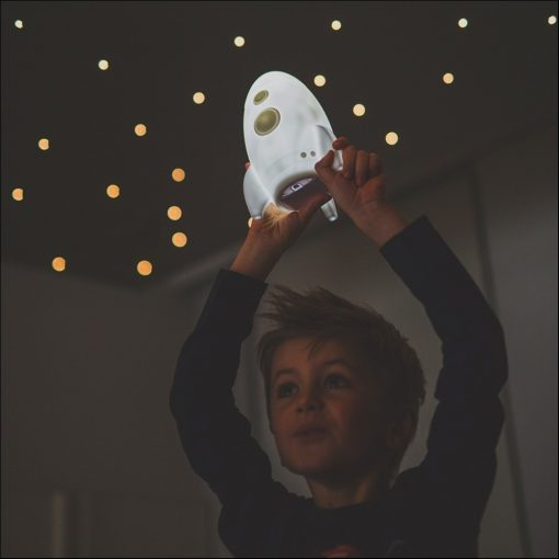 Raket led lamp met naam