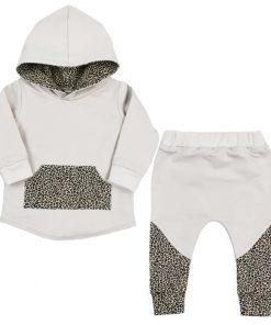 Hoodie pak met cheetah print