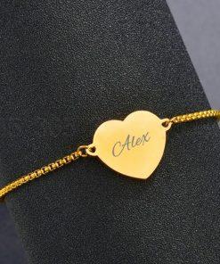 Hart armband met naam