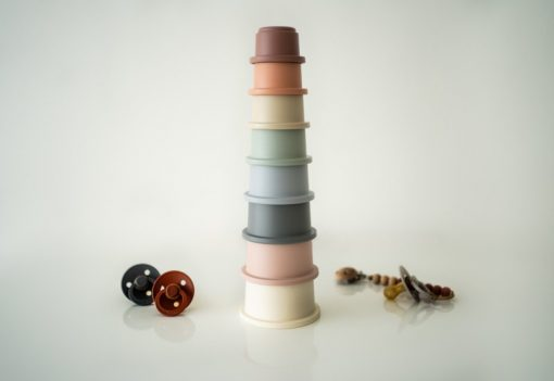 Mushie stapeltoren stacking cups